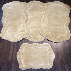 ROMANY WASHABLES TRAVELLER MATS SETS OF 4 NON SLIP TOURER SIZE THICK LIGH BEIGE